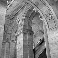 Columns arches at the New York Public Library in New York City