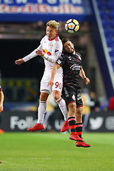 March 13, 2018 - Harrison, NJ, U.S. - HARRISON, NJ - MARCH 13:  New York Red Bulls midfielder Marc Rzatkowski (90) during the second half of the CONCACAF Champions League Quarter-final match between the New York Red Bulls and Club Tijuana on March 13, 2018, at Red Bull Arena in Harrison, NJ.  (Photo by Rich Graessle/Icon Sportswire) (Credit Image: © Rich Graessle/Icon SMI via ZUMA Press)