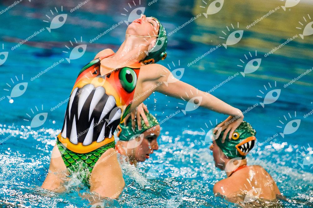 Team Spain.European Synchronised Swimming Championships Eindhoven 2012.Teams free routine - Preliminaries .Eindhoven (Netherlands), 25/05/2012, Pieter Van Den Hoogenband Swimming Stadium.ph. Giorgio Perottino / Deepbluemedia