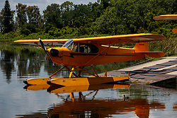 1940 Piper J3C-65 Cub (N32768) on the ramp at Jack Brown's Seaplane Base (F57), Winter Haven, Florida, United States of America