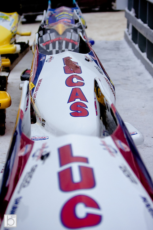 Race Day at the Fifth Annual Lucas Oil Geoff Bodine Bobsled Challenge presented by Whelen Engineering featuring drivers from both NASCAR and the NHRA in Lake Placid, N.Y. Sunday, Jan 10, 2010.