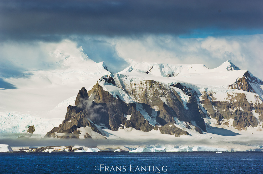 Mountains and coastline, Neumayer Strait, Antarctica