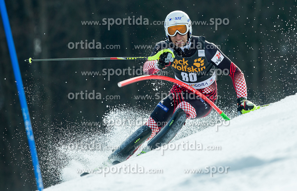 VIDOVIC Matej of Croatia competes during 1st Run of Men Slalom race of FIS Alpine Ski World Cup 54th Vitranc Cup 2015, on March 15, 2015 in Kranjska Gora, Slovenia. Photo by Vid Ponikvar / Sportida