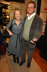 MARIELLA FROSTRUP and  JASON McCUE at a party to celebrate the launch of the book 'Long Way Down' by Ewan McGregor and Charley Boorman held at Smythson, 40 New Bond Street, London W1 on 19th November 2007,<br />
