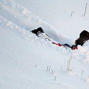 Noorwegen Robru Gol 24 december 2008 20081224 Foto: David Rozing .Wintertafereel, sleeen en met de neus in de sneeuw.Wintertime, sledge ..Foto: David Rozing