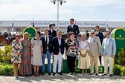 Kenny Darragh, IRL, Balou du Reventon<br /> Grand Prix Rolex powered by Audi <br /> CSI5* Knokke 2019<br /> © Hippo Foto - Dirk Caremans<br /> Kenny Darragh, IRL, Balou du Reventon