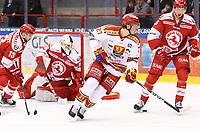 2020-02-01 | Ljungby, Sweden: Skövde IK (27) Max Kardevall during the game between IF Troja / Ljungby and Skövde IK at Ljungby Arena ( Photo by: Fredrik Sten | Swe Press Photo )<br /> <br /> Keywords: Ljungby, Icehockey, HockeyEttan, Ljungby Arena, IF Troja / Ljungby, Skövde IK, fsts200201, ATG HockeyEttan, Allettan