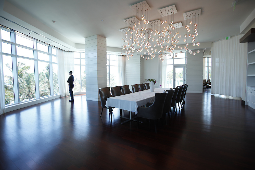 3/28/13---Bal Harbor, Fl----- Photo by Angel Valentin---<br /> Dining room in Mister Collins restaurant at ONE Bal Harbor Resort &amp; Spa.
