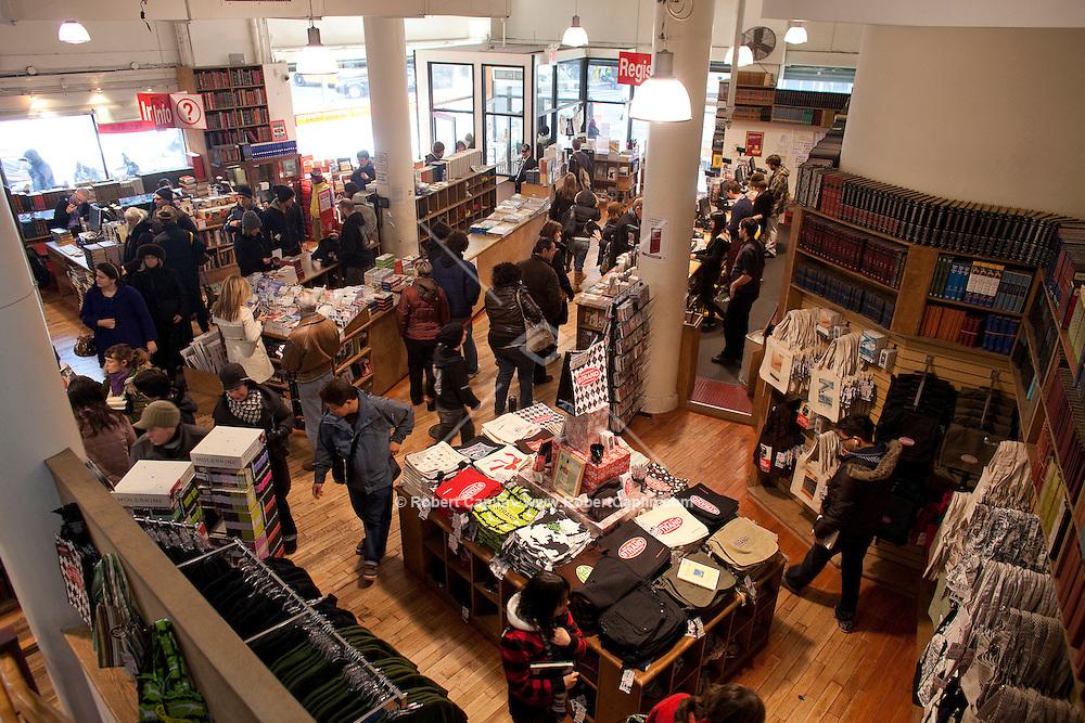 Strand Bookstore in New York City. (Photo by Robert Caplin)