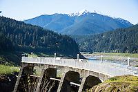 Glines Canyon Dam site on the Elwah River. Olympic National Park, WA.