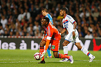 FOOTBALL - FRENCH CHAMPIONSHIP 2011/2012 - L1 - OLYMPIQUE LYONNAIS v OLYMPIQUE MARSEILLE - 18/09/2011 - PHOTO PHILIPPE LAURENSON / DPPI - STEVE MANDANDA (OM)