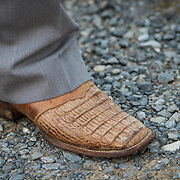 Prince William County Supervisor, Corey Stewart proudly wore his caiman leather boots, during an appearance at the Page County , VA GOP Jamboree, in Luray, VA on Saturday, June 25, 2016.  Stewart ran the Trump operation in Virginia and is running for Governor in 2017.  Stewart mingled with guests and made a brief speech, along with other candidates for political office in Virginia.  John Boal Photography