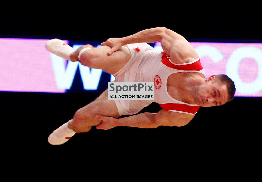 2015 Artistic Gymnastics World Championships being held in Glasgow from 23rd October to 1st November 2015..Canadian team in the afternoon practice session....(c) STEPHEN LAWSON | SportPix.org.uk
