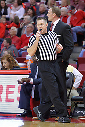 29 December 2016:  Ray Natili rushes past Dan Muller, Head Coach during an NCAA  MVC (Missouri Valley conference) mens basketball game between the Evansville Purple Aces the Illinois State Redbirds in  Redbird Arena, Normal IL