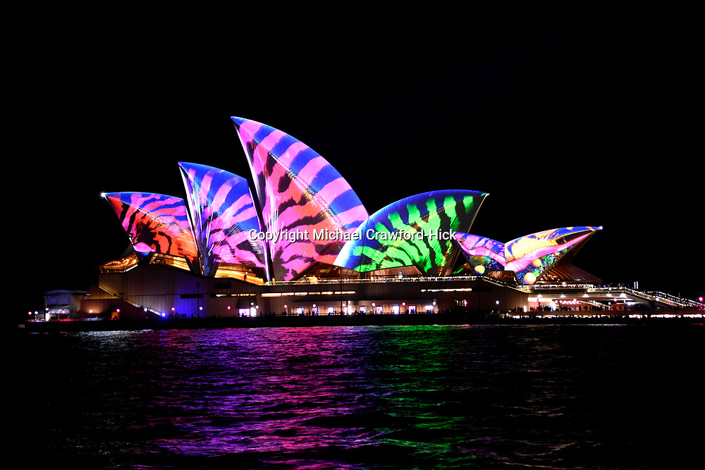 SydneyOpera House lit up for Vivid Sydney 2017