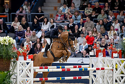 PEDERSEN Sören (DEN), Tailormade Chaloubet<br /> Göteborg - Gothenburg Horse Show 2019 <br /> Gothenburg Trophy presented by VOLVO<br /> Int. jumping competition with jump-off (1.55 m)<br /> Longines FEI Jumping World Cup™ Final and FEI Dressage World Cup™ Final<br /> 06. April 2019<br /> © www.sportfotos-lafrentz.de/Stefan Lafrentz