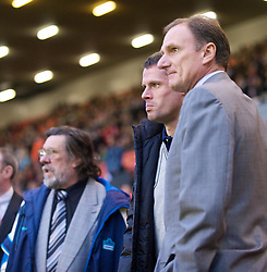 LIVERPOOL, ENGLAND - Thursday, May 14, 2009: Liverpool Legends' assistant manager Phil Thompson, Jamie Carragher and manager Ricky Tomlinson during the Hillsborough Memorial Charity Game at Anfield. (Photo by David Rawcliffe/Propaganda)