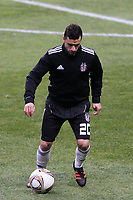 20120213: BRAGA, PORTUGAL - Simao Sabrosa at the Besiktas JK training session before UEFA Europe League match against SC Braga.<br /> PHOTO: CITYFILES