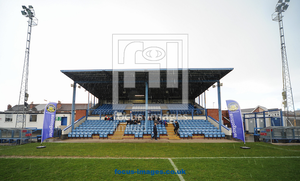 A General View before the Gainsborough Trinity FC v Lowestoft Town National League North match at the Northolme, Gainsborough<br /> Picture by Richard Land/Focus Images Ltd +44 7713 507003<br /> 16/04/2016