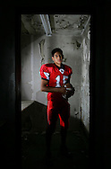 Photo by Alex Jones..J.D. Cisneros, quarterback, La Villa Cardinals