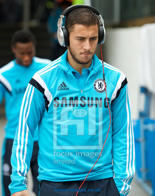Eden Hazard  of Chelsea arriving for the Barclays Premier League match at Selhurst Park, London<br /> Picture by Alan Stanford/Focus Images Ltd +44 7915 056117<br /> 18/10/2014