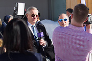 """The sun comes out at the Annual Meeting 2018 of the World Economic Forum in Davos, January 24, 2018.<br /> Copyright by World Economic Forum / Greg Beadle during the Session """""""" at the Annual Meeting 2018 of the World Economic Forum in Davos, January 24, 2018.<br /> Copyright by World Economic Forum / Greg Beadle"""