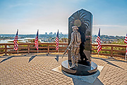 Field of Honor Memorial Overlooks Newport Beach