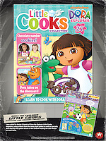Dora the Explorer - Little Cooks. Get Cooking with Dora! An exciting new collection that's got everything a Little Cook could want! Collect a fortnightly magazine packed with delicious, easy-to-follow recipes, puzzles, stories and much more. PLUS a fantastic cookery and tea set to collect, specially designed for Little Cooks, featuring Dora and her friends. Published by Eaglemoss Publications.<br />