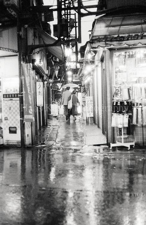 A small street near Shinjuku Station, Tokyo, Japan, 1986