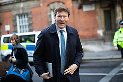 © Licensed to London News Pictures. 18/10/2019. London, UK. Chair of Brexit Party Richard Tice seen in Westminster this morning. Yesterday, British Prime Minister Boris Johnson agreed a Brexit deal with the EU. Photo credit : Tom Nicholson/LNP