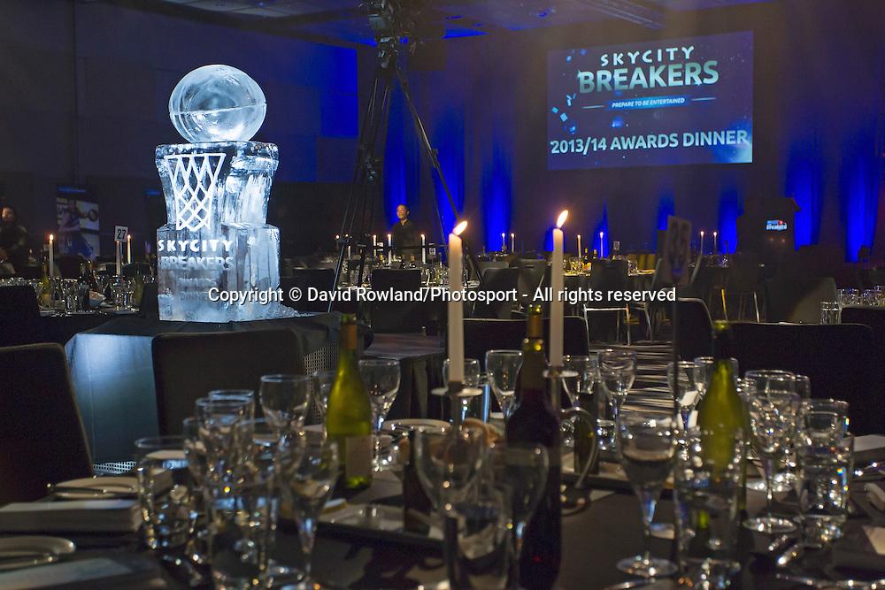 Overview of the Skycity Breakers Awards, 2013-14, Skycity Convention Centre, Auckland, New Zealand, Friday, March 28, 2014. Photo: David Rowland/Photosport