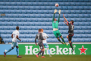 Coventry City goalkeeper Lee Burge (1)  claims the high ball during the The FA Cup match between Coventry City and Morecambe at the Ricoh Arena, Coventry, England on 15 November 2016. Photo by Simon Davies.