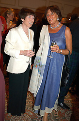Left to right, LADY ROTHSCHILD and LADY AMABEL LINDSAY at a dinner in aid of the BAAF (British Association for Adoption & Fostering) held at The Savoy, London on 22nd March 2005.<br />