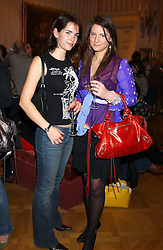 Left to right, OCTAVIA KHASHOGGI and DAVINA CATT at a fashion show featuring the Miss Selfridge Autumn/Winter '05 collections held at The Wallace Collection, Manchester Square, London W1 on 6th April 2005.<br />