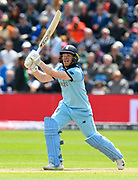 Eoin Morgan of England batting during the ICC Cricket World Cup 2019 match between England and Bangladesh the Cardiff Wales Stadium at Sophia Gardens, Cardiff, Wales on 8 June 2019.