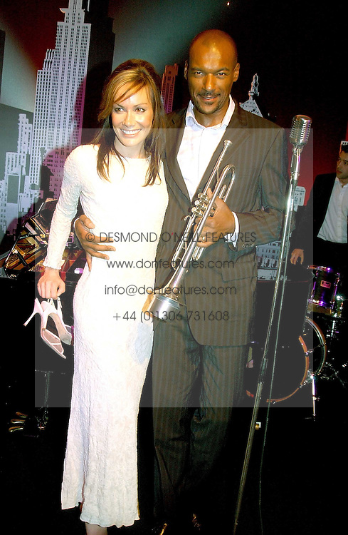 TARA PALMER-TOMKINSON and COLIN SALMON  at the English National Opera's 'On The Town' presented by SKY and Artsworld followed by a Tribute to Leonard Bernstein hosted by Jerry Hall at The London Coliseum, St.Martin's Lane, London WC2 on 11th May 2005.