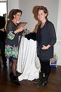 KATE CORCORAN; OLIVIA LOVE, MCA- Sydney cocktails. Brandon rooms. ICA. London. 11 October 2011. <br /> <br />  , -DO NOT ARCHIVE-© Copyright Photograph by Dafydd Jones. 248 Clapham Rd. London SW9 0PZ. Tel 0207 820 0771. www.dafjones.com.