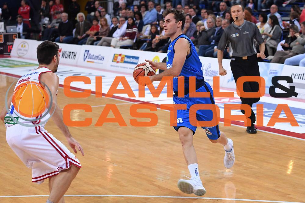 Franko Bushati<br /> VL Pesaro - Germani Leonessa Basket Brescia<br /> Lega Basket Serie A 2017/2018<br /> Pesaro, 01/10/2017<br /> Foto M.Ceretti / Ciamillo - Castoria