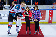 KELOWNA, CANADA - MARCH 02: Third Star of the Game Kaedan Korczak #6 of the Kelowna Rockets at the Kelowna Rockets game on March 02, 2019 at Prospera Place in Kelowna, British Columbia, Canada. (Photo By Cindy Rogers/Nyasa Photography, *** Local Caption ***