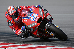 February 7, 2019 - Sepang, Malaysia - Mission Winnow Ducati's rider Danilo Petrucci of Italy takes a corner during takes a corner during the second day of the 2019 MotoGP pre-season testing at Sepang International Circuit February 7, 2019. (Credit Image: © Zahim Mohd/NurPhoto via ZUMA Press)