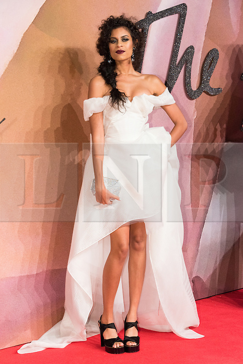 © Licensed to London News Pictures. 05/12/2016. ALUNA FRANCIS arrives for The Fashion Awards 2016 celebrating the best of British and international fashion. London, UK. Photo credit: Ray Tang/LNP