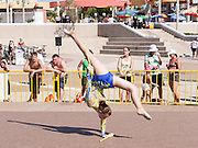 Israel, The Maccabiah an international Jewish athletic event similar to the Olympics held in Israel every four years. Artistic Gymnastics display, July 2009