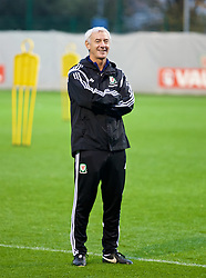 NEWPORT, WALES - Wednesday, November 4, 2015: Wales' Elite Performance Director Ian Rush during a training session ahead of the Under-16's Victory Shield International match at Dragon Park. (Pic by David Rawcliffe/Propaganda)
