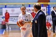 Giorgia Sottana, Andrea Capobianco<br /> Italia Italy - Repubblica Ceca Czech Republic<br /> FIBA Women's Eurobasket 2021 Qualifiers<br /> FIP2019 Femminile Senior<br /> Cagliari, 14/11/2019<br /> Foto L.Canu / Ciamillo-Castoria