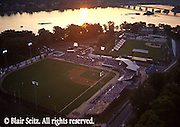 Harrisburg, PA, City Island, Aerial, Baseball Park and River, Sunset
