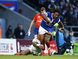 February 10, 2019 - London, England, United Kingdom - Mathieu Bastareaud of France..during the Guiness 6 Nations Rugby match between England and France at Twickenham  Stadium on February 10th, 2019 in Twickenham, London,  England. (Credit Image: © Action Foto Sport/NurPhoto via ZUMA Press)
