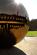 Vatican, Italy 101211 Arnaldo Pomodoro's Sphere within a sphere sculpture at one of the Vatican courtyards. (Essdras M Suarez/ EMS Photography)
