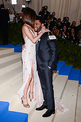 Selena Gomez and The Weeknd Abel Makkonen Tesfaye arriving at The Metropolitan Museum of Art Costume Institute Benefit celebrating the opening of Rei Kawakubo / Comme des Garcons : Art of the In-Between held at The Metropolitan Museum of Art  in New York, NY, on May 1, 2017. (Photo by Anthony Behar) *** Please Use Credit from Credit Field ***