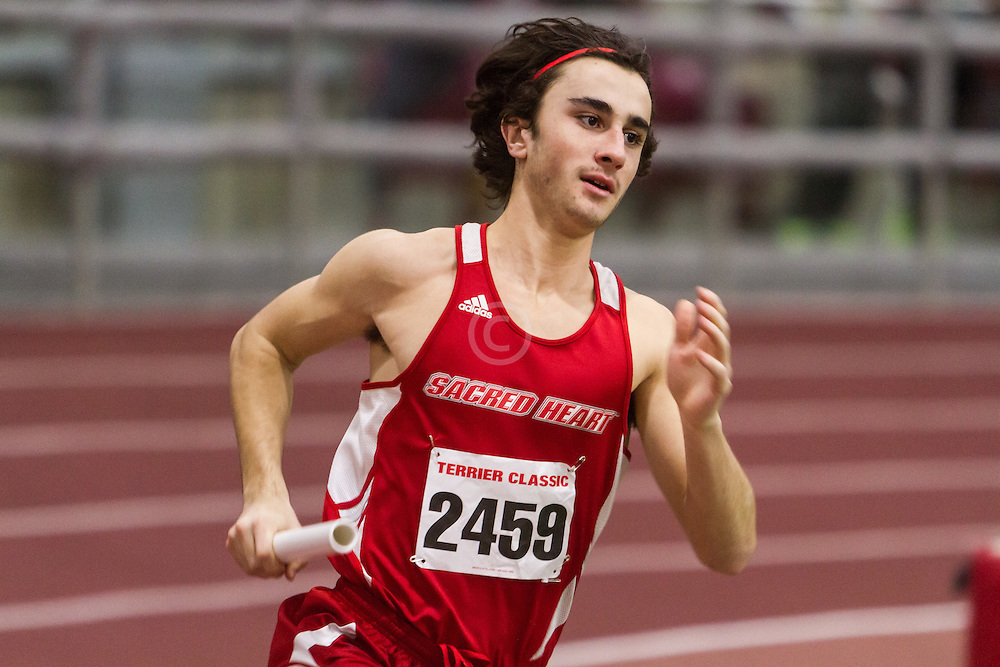 Boston University Multi-team indoor track & field, men 4x400 meter relay Sacred Heart