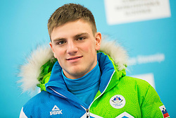 Luka Plahuta during presentation of Slovenian Young Athletes before departure to EYOF (European Youth Olympic Festival) in Vorarlberg and Liechtenstein, on January 21, 2015 in Bled, Slovenia. Photo by Vid Ponikvar / Sportida